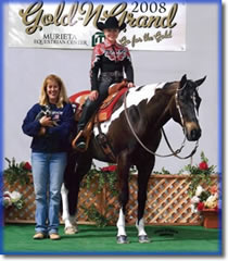 Lauren with student Caitlin, Trail Champion, Horsemanship Reserve Champion